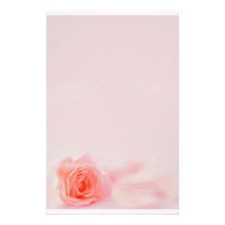 pastel stationery rose