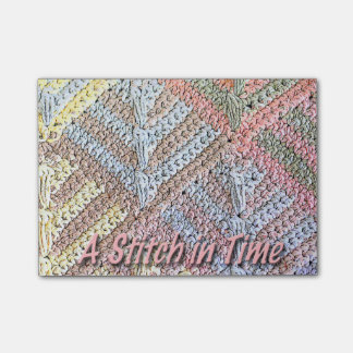 Pastel Stitch in Time Post-it® Notes