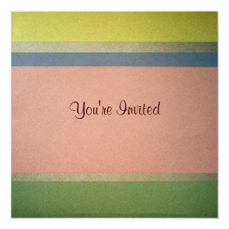 Pastel Stripe  Birthday Invitation