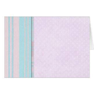Pastel Stripe Border Card