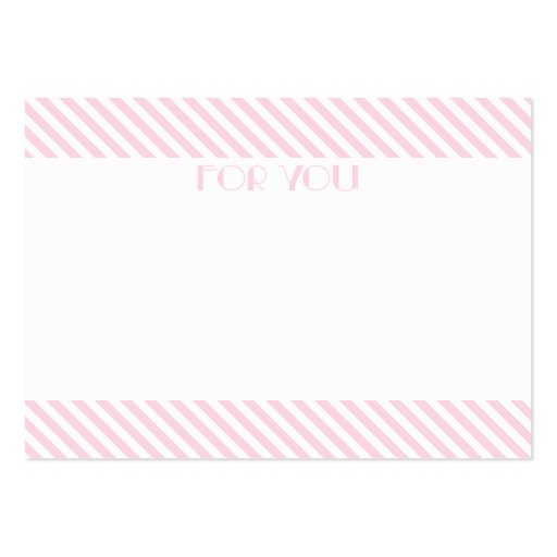 Pastel Stripe Mini Flat Card // Gift Tag Business Card Templates