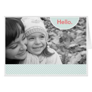 Pastel Stripe Photo Frame Card
