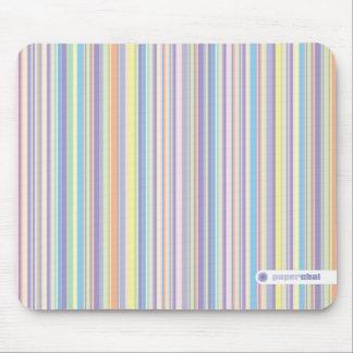 Pastel striped mousepad