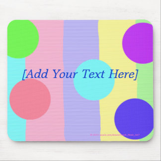 """""""Pastel Stripes and Dots"""" (1) Mouse Pad"""