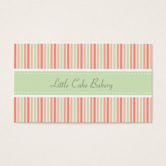 Pastel Stripes Bakery Business Card