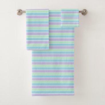 MissMatching Pastel Stripes Bath Towel Set