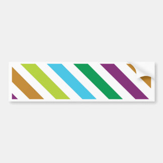 Pastel Stripes Bumper Sticker