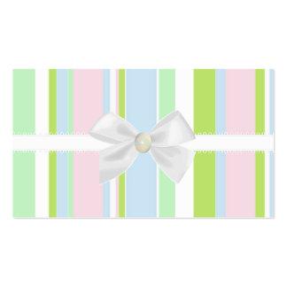 Pastel Stripes Business Card