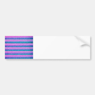 Pastel Stripes Car Bumper Sticker