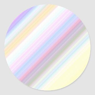 Pastel Stripes Classic Round Sticker