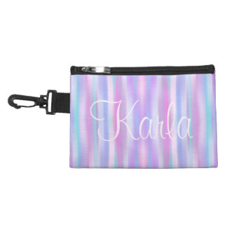 Pastel Stripes Clip on Accessories Bags