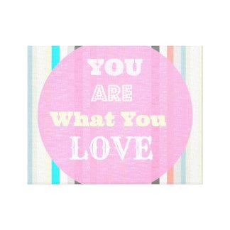 pastel stripes colorful quote canvas print