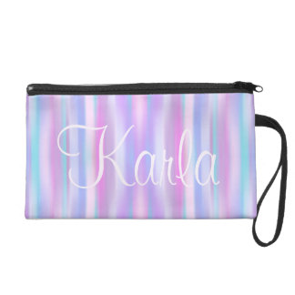 Pastel Stripes Cosmetic Bag