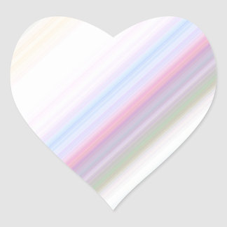 Pastel Stripes Heart Sticker