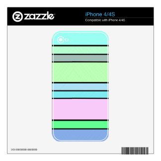 Pastel Stripes iPhone 4S Skin