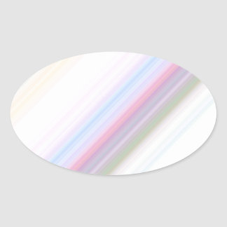 Pastel Stripes Oval Sticker