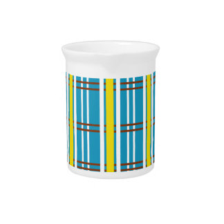 Pastel Stripes Pattern Background Drink Pitchers