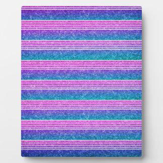 Pastel Stripes Photo Plaque