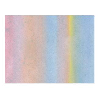 Pastel Stripes. Postcard