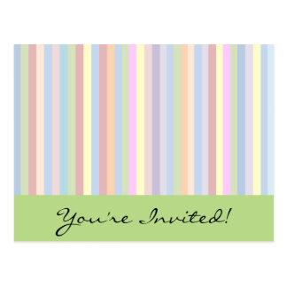 Pastel Stripes Postcard