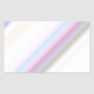 Pastel Stripes Rectangular Sticker