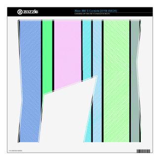 Pastel Stripes Skin For Xbox 360 S