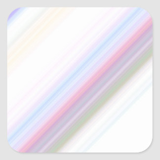 Pastel Stripes Square Sticker