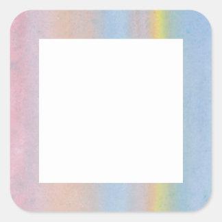 Pastel Stripes. Square Sticker