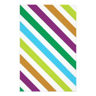 Pastel Stripes Stationery Design