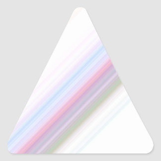 Pastel Stripes Triangle Sticker