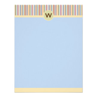 Pastel Stripes Vertical Note Card Personalized Invitation