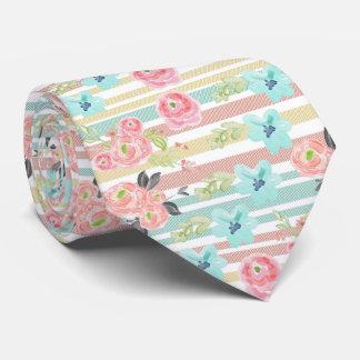 pastel stripes,water colour florals,trendy,girly,c neck tie