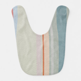 Pastel Strips in Leather Texture Bib