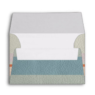 Pastel Strips in Leather Texture Envelopes