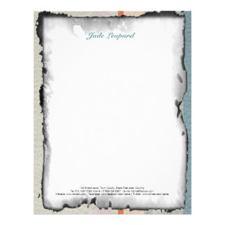 Pastel Strips in Leather Texture Letterhead