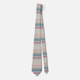 Pastel Strips in Leather Texture Tie