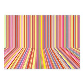 "Pastel Strips 5"" X 7"" Invitation Card"