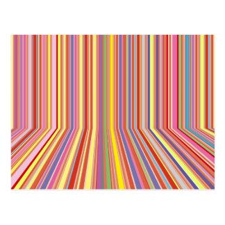 Pastel Strips Postcard