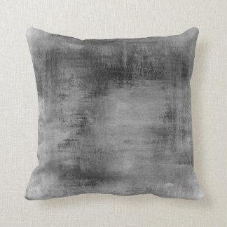 Pastel sucio gris apenado del negro del vintage cojín