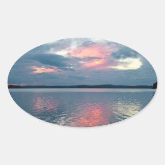Pastel Sunset custom stickers