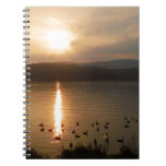 Pastel Sunset & geese Notebook