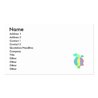 Pastel Surf Board Logo Double-Sided Standard Business Cards (Pack Of 100)