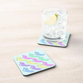 Pastel Surfer Pattern Drink Coaster Set (6)