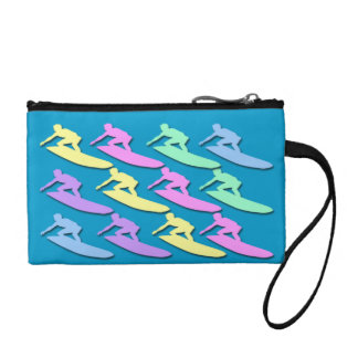 Pastel Surfer Pattern Key Coin Clutch Coin Wallet