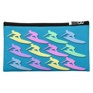 Pastel Surfer Pattern Medium Cosmetic Bag