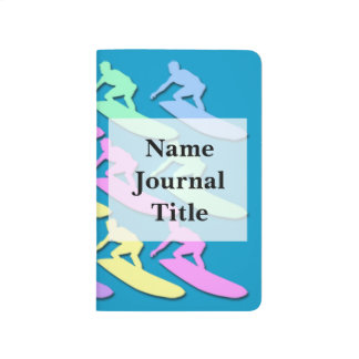 Pastel Surfer Pattern Pocket Journal