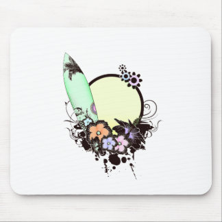 Pastel Surfing Mouse Pad