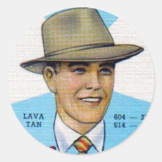 Pastel Swann Hats Classic Round Sticker