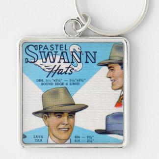 Pastel Swann Hats Keychain