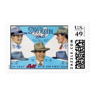 Pastel Swann Hats Postage